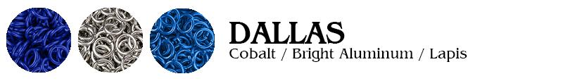 Dallas Football Jump Rings : Cobalt / Bright Aluminum / Lapis
